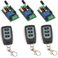 Family-Sized AC 220V 1CH Channel Wireless RF Waterproof Remote Control 3 3-key Switch Transmitter+3 Receiver Adapter