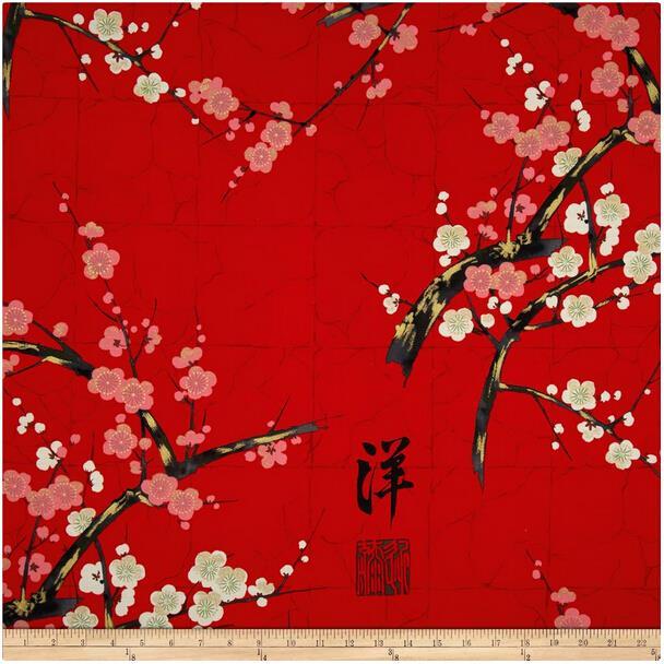 vtements bricolage trois couleur restauration peinture prune fleurs dimpression de coton tissu teinture patchwork - Colorant Tissu