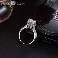 Jewellwang кольца с муассанитом для Для женщин Роскошные рубин алмаз боковой камень 0,5 сертифицирован r EngaBaden blossom