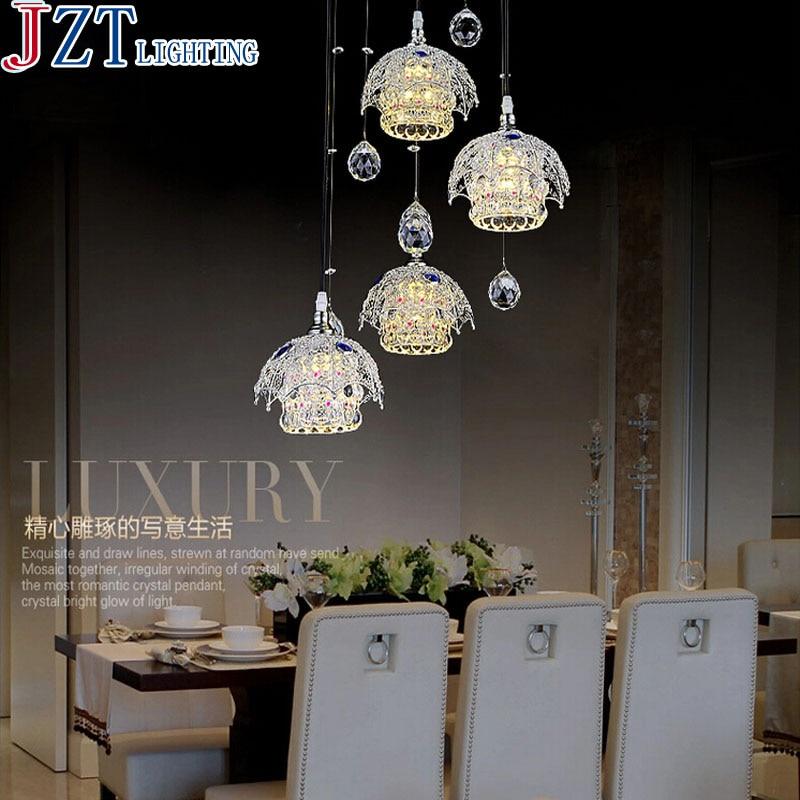 M Best Price LED 3 Heads Restaurant Lights Crystal Chandelier Lamp Modern Minimalist Dining Room Creative