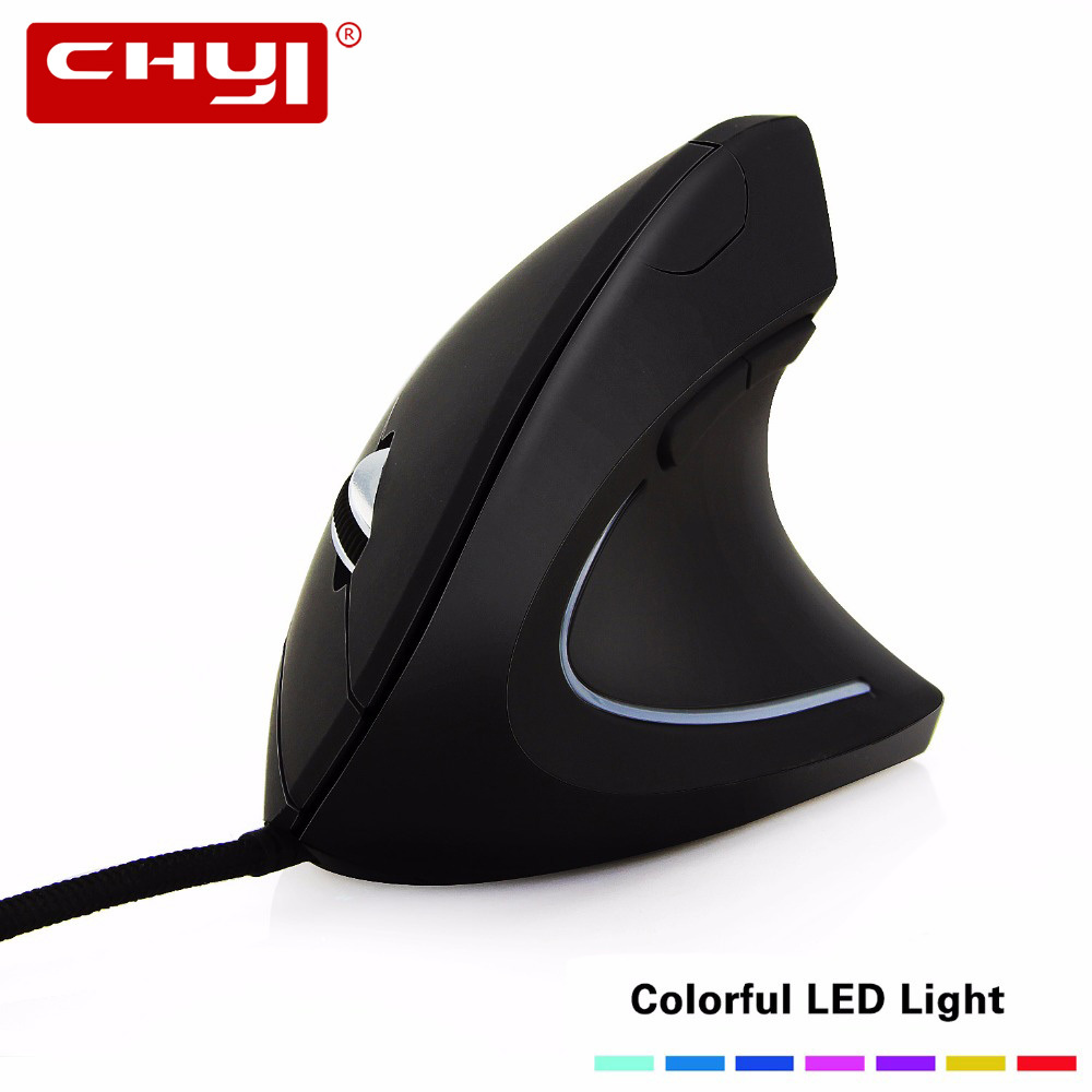 CHYI Wired Vertical Mouse Ergonomic 800-1200-2000-3200 DPI USB Cable Optical Mice Mause with Mouse Pad Kit For PC Laptop Desktop chyi wired mouse ergonomic vertical 800 1000 1200 1600dpi 5 keys usb gaming mice with mouse pad kit wrist rest mat for pc laptop