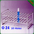 High Pressure Sterilization Use Diameter 24mm Stainless Steel Test Tube Rack