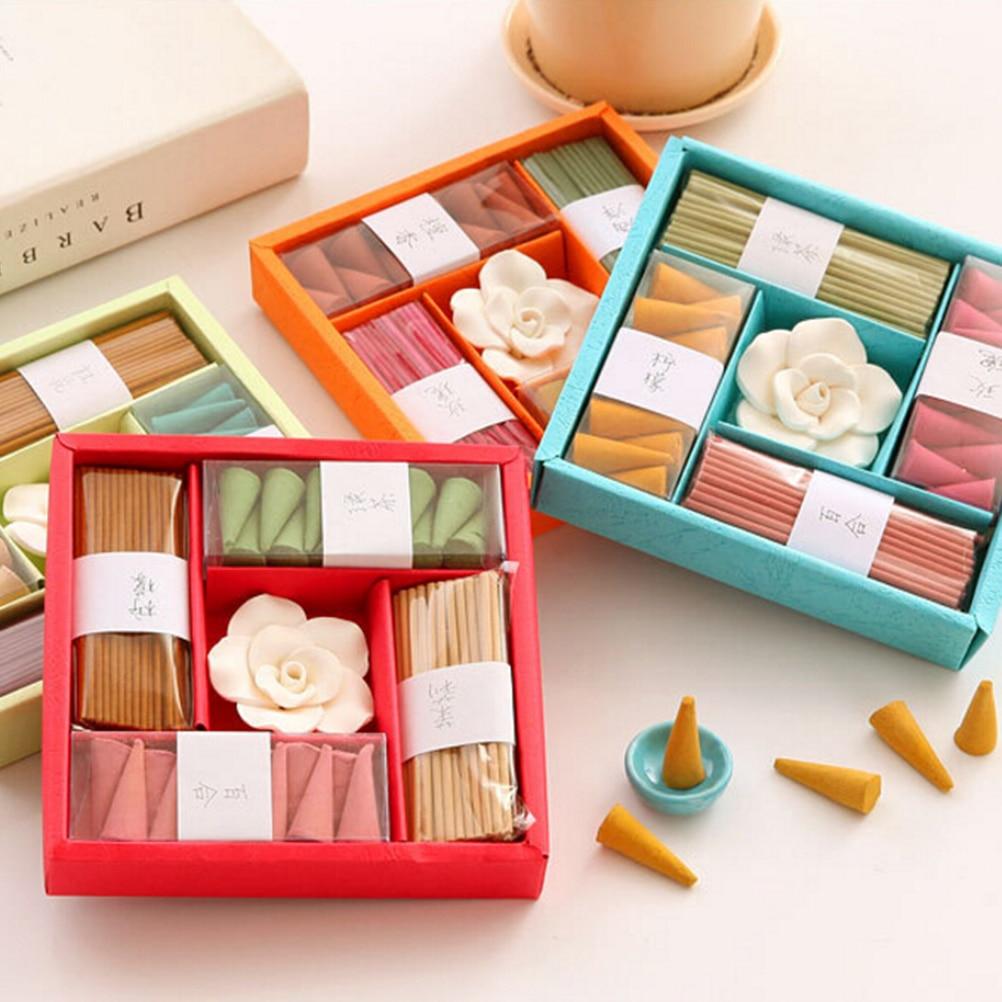 1 Set Gift Box Incense Set Rose Scent Incense Bathroom