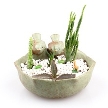 Bird Feeder Ceramic Succulent Plant Flower Pot Flowerpot Planter Small
