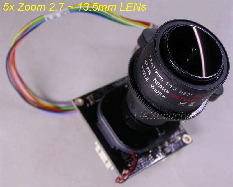 2 7 13 5mm Motorized Zoom Focus LENs AHD TVI CVI CVBS 1 2 8 Sony