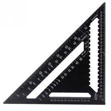 12 inch Metric system Aluminum Alloy Triangular Ruler Speed Square Protractor Double Scale Miter Framing Measurement Rule tools