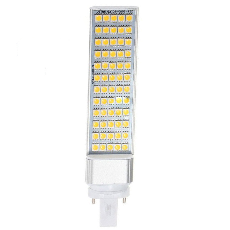G23 5050 SMD White Led Horizontal Plug Lamp Corn Home Ceiling (12 W) lexing lx ymd 067 3 5w 300lm 7000k e14 5050 smd white light corn lamp white silver transparent