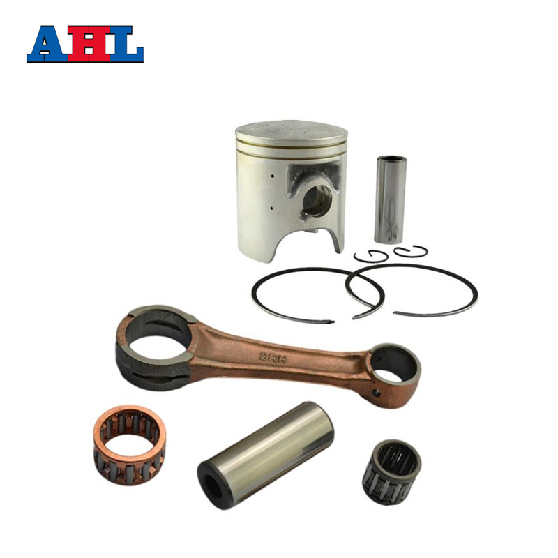 Motorcycle Engine Parts 56.4mm Connecting Rod + Piston Ring Kit for YAMAHA TZR125 TZR 125 1987-1997 Pistons Rings ahl motorcycle engine parts connecting rod bearing kit for honda crf250 crf 250 2004 2005 piston connecting rod