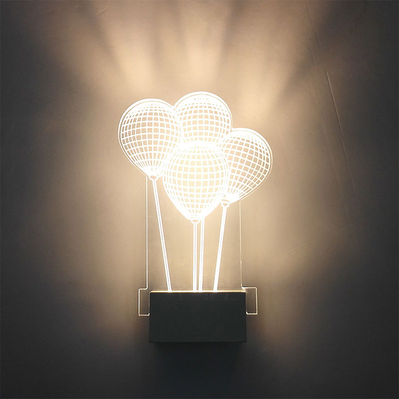 Modern Led Wall Lamps 3D Acrylic Balloon Shape Wall Light bedside lamp 80-265V Living Room Indoor Wall Lighting Whit/Warm White image