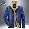 M~4XL New Warm Denim Jackets Mens Jeans Jacket Coats Brand Clothing AFS JEEP Winter Thicken Denim Jacket Men Clothing Outwear