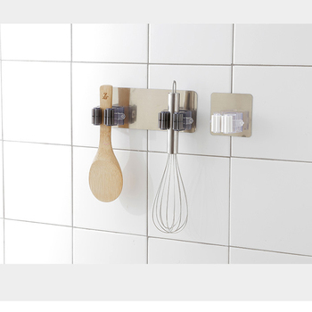GUANYAO Adhesive Multi-Purpose Hooks Wall Mounted Mop Organizer Holder RackBrush Broom Hanger Hook Kitchen bathroom Strong Hooks 3