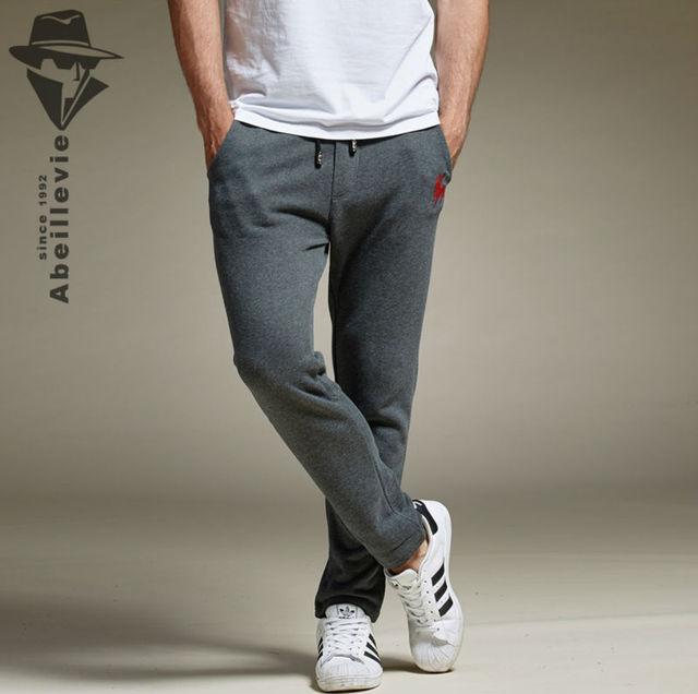 Abeillevie New Fashion Cotton Long Men's Pants Print Soft French Terry Casual Pants Men Plus Size Joggers Active SweatPants 8612