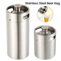 2/3.6L Stainless Steel Mini Beer Keg Pressurized Growler for Craft Beer Dispenser System Home Brew Beer Brewing