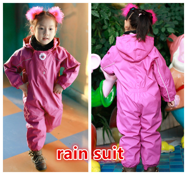 free shipping export spring autumn girls raincoat MINI NITDRY outdoor waterproof top trousers Splashsuit windproof pink rainsuit free shipping new vehicle blocks camion bulldozer export t
