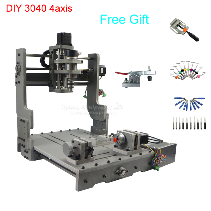 300*400mm Working Area CNC3040 PCB Milling Machine CNC Router With USB Communication Port , Free Tax To Russia