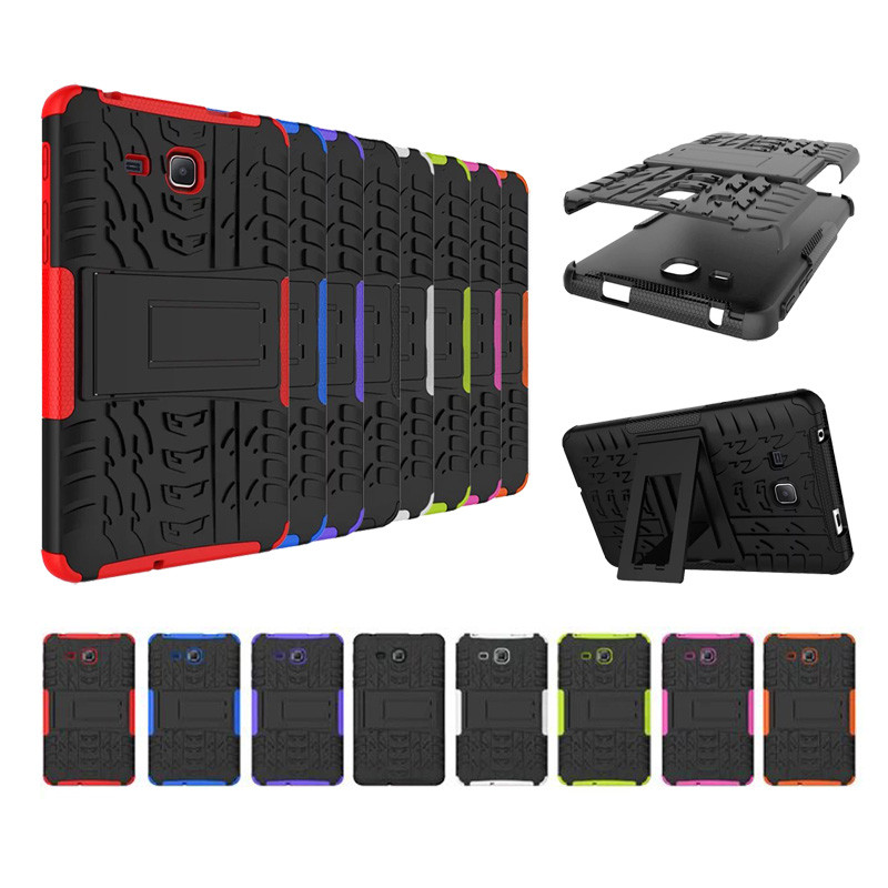 100PCS Lot Good Quality Armor Hard PC Stand Case For Samsung Galaxy Tab A 7 0