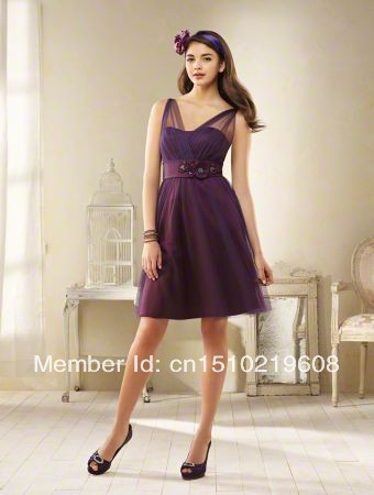 31c3b03d329 Special Two Shoulders Plum Cocktail Dress with Rhinestones and Crystal  Beading free shiping