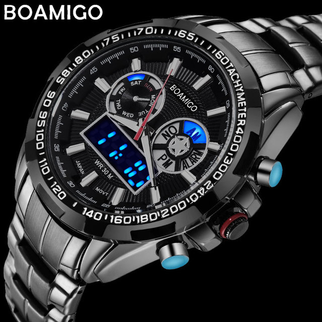 s amigo analog watch sport auto prices in watches men brand the waterproof chronograph malaysia best led online shock clock boamigo date steel digital quartz