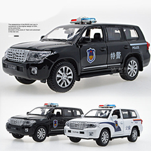 2017 Hot Sell 1/32 patrol wagon Diecast Alloy Metal Luxury Racing Car Model Collection Pull Back Toys Car Gift Light and Music