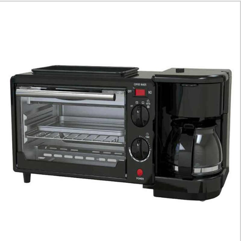 3-in-1 อาหารเช้าเครื่อง 600 W หม้อ + 750 W Teppanyaki + 750 W เตาอบขนมปัง maker เบเกอรี่ขนมปังเครื่องปิ้งขนมปัง/ทอดไข่/กาแฟหม้อหุงข้าว