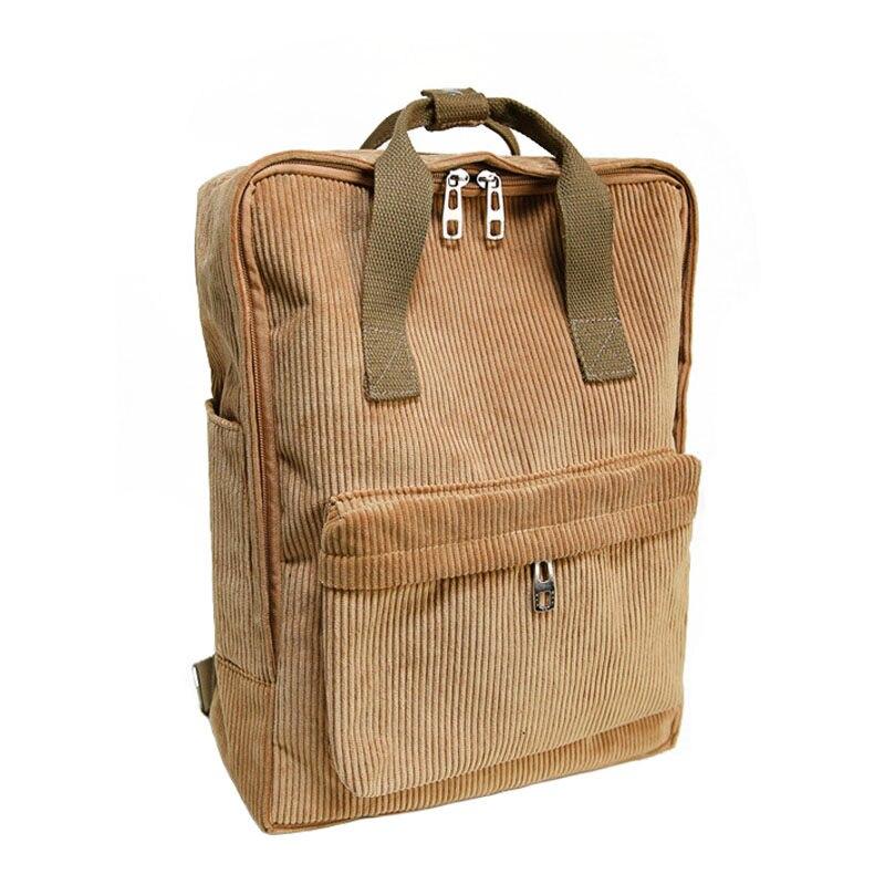 Fashion Women Brand Corduroy font b Backpack b font School Bags For Teenage Girls Casual Hot