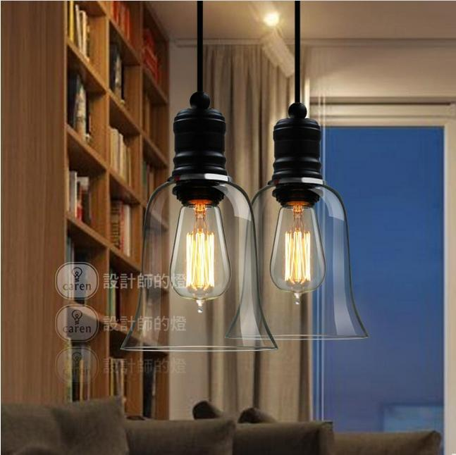 free shipping modern crystal bell glass pendant lights dining room contemporary lighting fixtures pl139china - Dining Room Light Fixture Glass