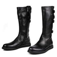 MYCOLEN Mid Calf Riding Equestrian Men Boots Trend Leisure Winter Shoes Men Leather High Top Shoes Zapatos Casuales De Hombre
