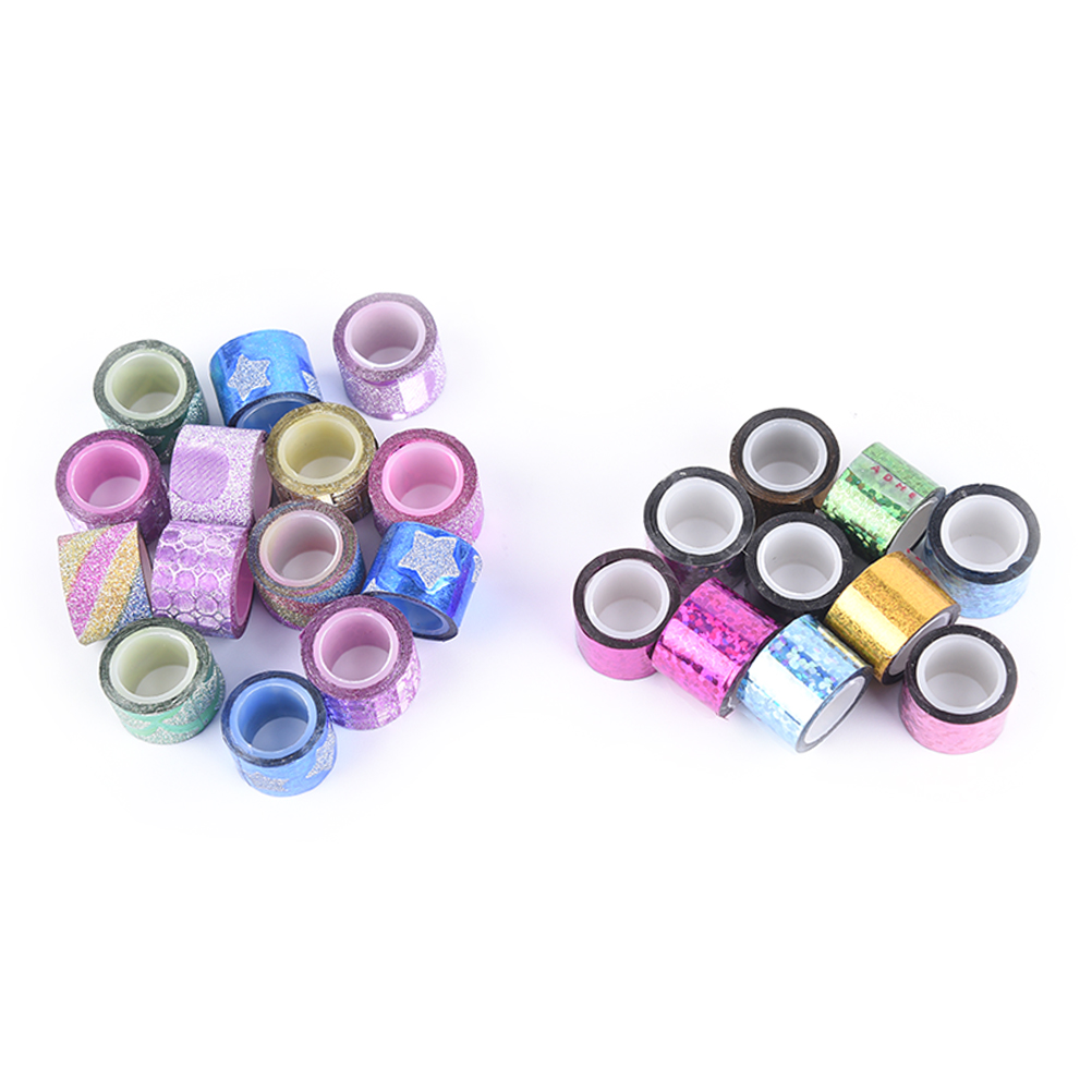 10PCS/LOT Mini Masking Tapes Color Tape DIY Decorative Adhesive Tape Sticker Cartoon Diary Lace Tape Cinta Adhesiva Decoration