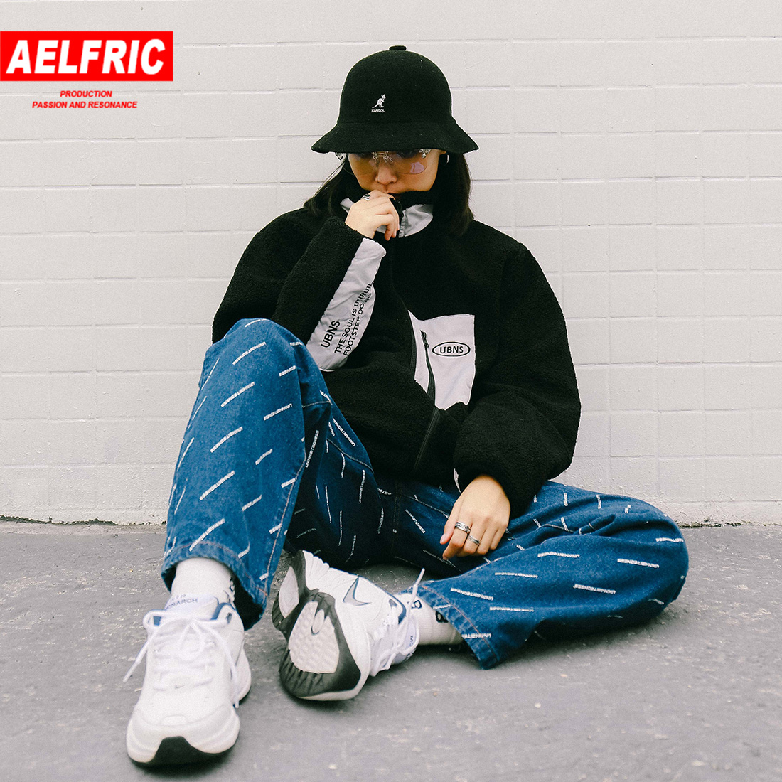 Brilliant Aelfric Letter Printing Straight Trousers Loose Fashion Casual Jeans Hip Hop High Street Couple Denim Pants 2019 Spring Summer