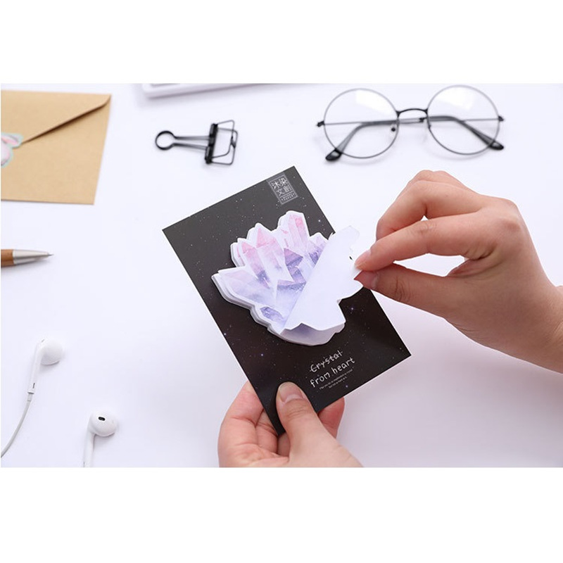 24 pcs/Lot Crystal sticky note Diamond post memo pad bookmark Guestbook Stationery Office accessories School supplies F105