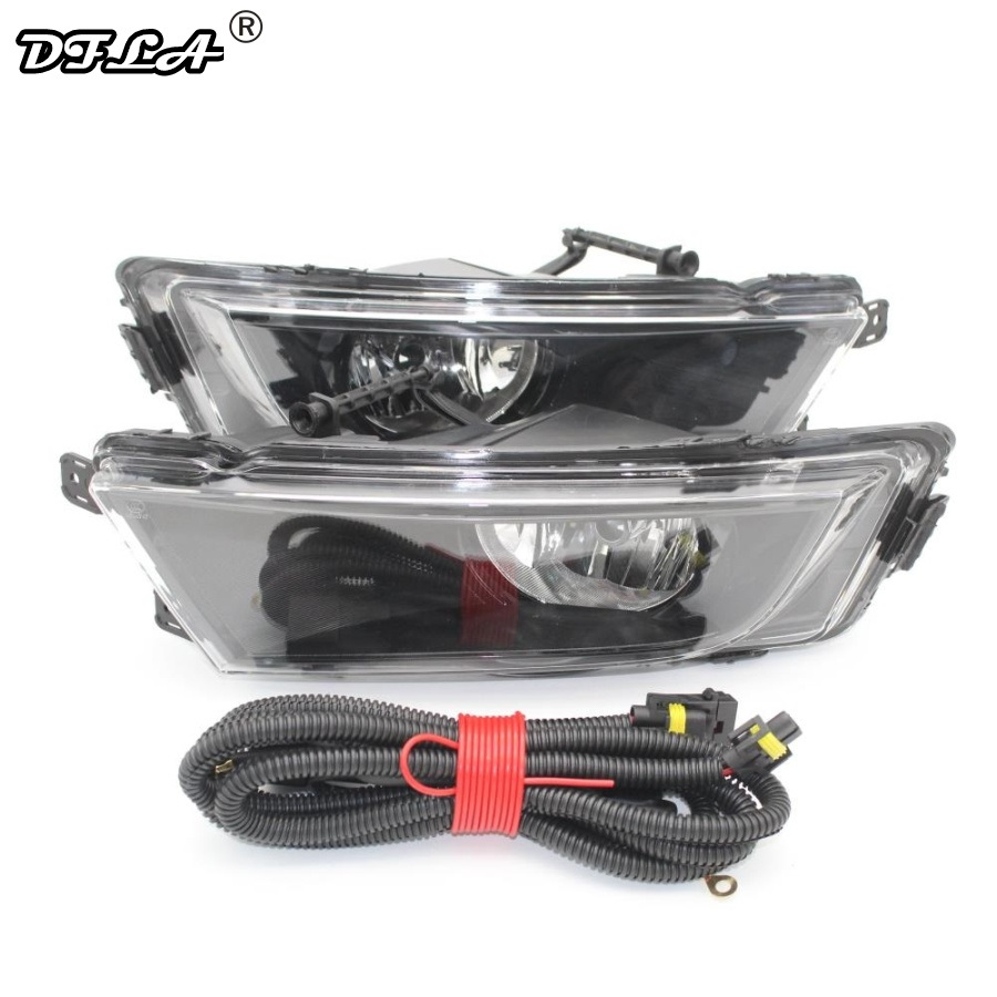 For Skoda Octavia A7 Sedan Octavia A7 Combi 2013 2014 2015 2016 2017 Car-styling Front Halogen Fog Light Fog Lamp +Wire car light car styling for vw polo vento sedan saloon 2011 2012 2013 2014 2015 2016 halogen fog light fog lamp and wire