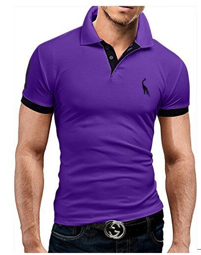 Summer Guitar Printed Stand Collar Polo Shirt Men Short Sleeve Casual Men Shirts Polo Homme Cotton Mens Polos M3600
