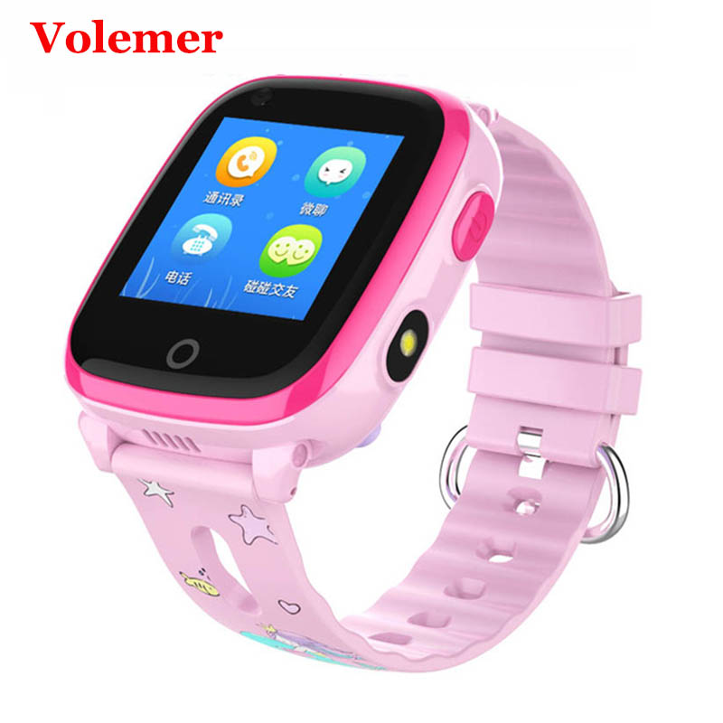 Volemer DF33 Children Smart Watch Waterproof GPS WIFI SOS Video Call Monitor Tracker 4G Remote Camera