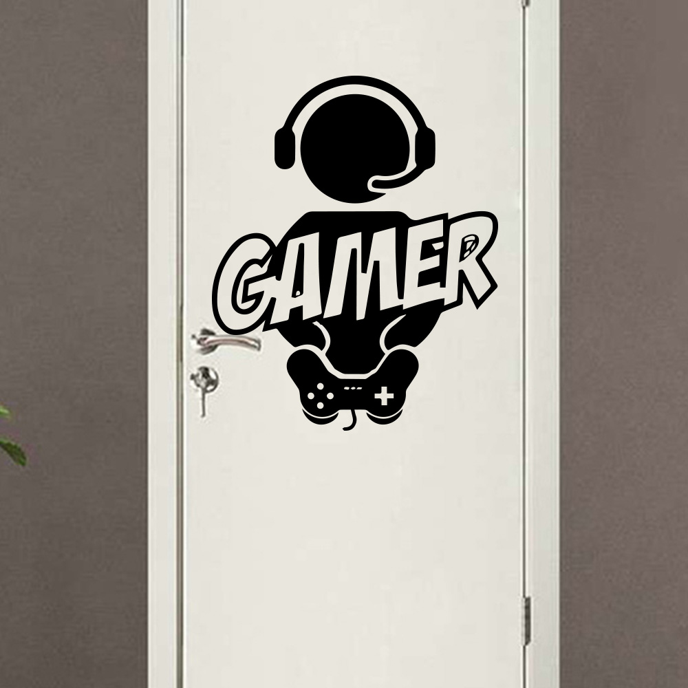 Deur sticker Vinyl Voor jouw Mancave! Decoratie Stickers PS4 Xbox One Gaming poster Decor 1
