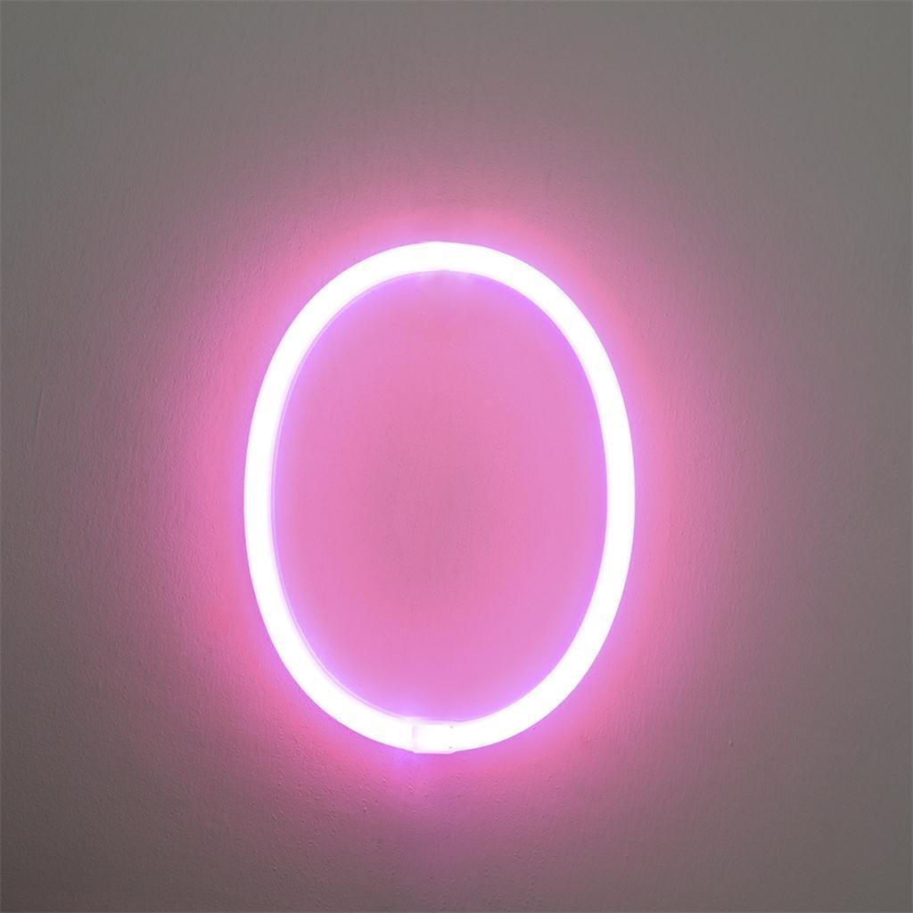 New LED Letter Lights Light Up  Plastic Letters Standing Hanging Pink Light Digital Creative Light Home Decoration Accessory