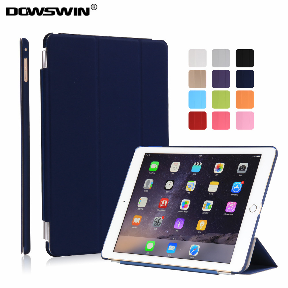case for ipad air 2 dowswin smart cover for ipad air 2 pu front pc back matte transparent sturdy. Black Bedroom Furniture Sets. Home Design Ideas