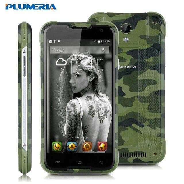 "Original Blackview BV5000 5.0"" HD Android 5.1 MT6735P Quad Core Waterproof IP67 Cell Phone 5000mAh 2GB 16GB Mobile Phone 4G LTE"