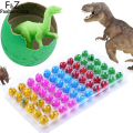 60pcs/lot Colorful Baby Novelty Gag Toys Magic Hatching Inflation Growing Dinosaur Eggs Water For Kids Educational Gift
