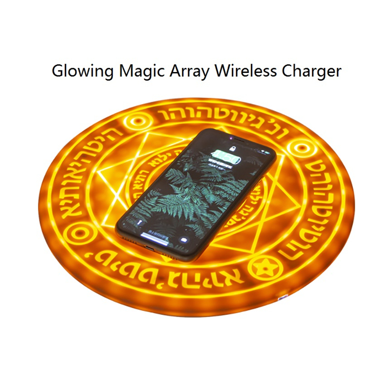 Novelty Light Glowing Magic Array Wireless Charger Universal 5W 10W Wireless Fast Charger Change Pad For IPhone Samsung Huawei