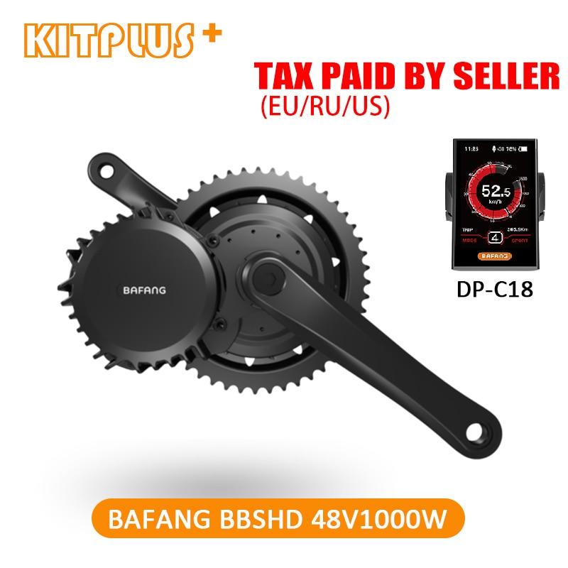 Free Shipping Bafang BBSHD BBS03 8fun 48V 1000W Motor Ebike Bafang Mid Drive Motor 68mm 100mm
