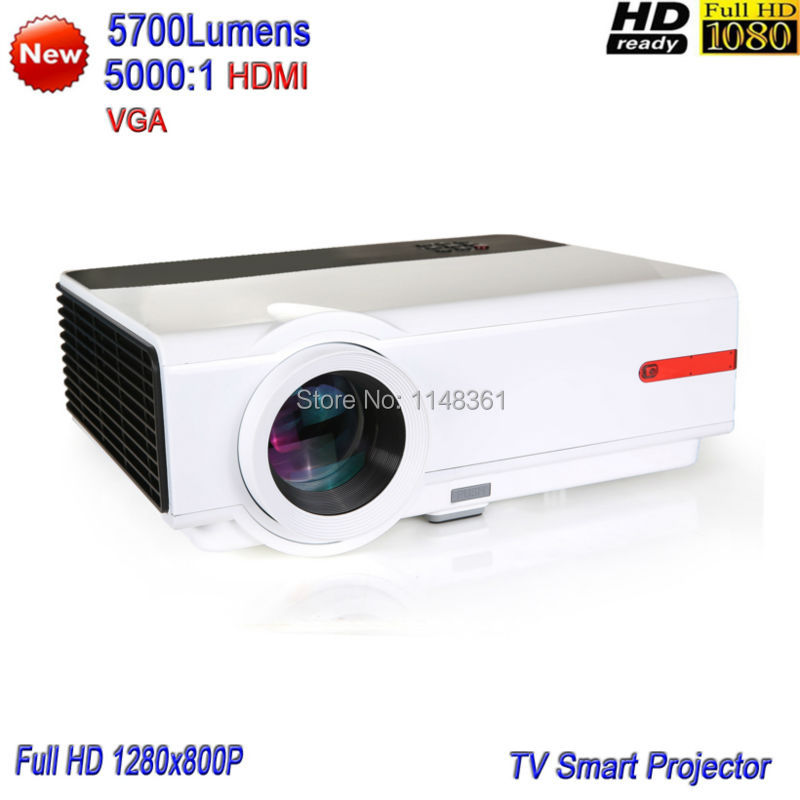 2017 New High Brightness 5700 Lumens Home Theater  Projector Full HD 1080P Game Projector TV Smart LED Projector