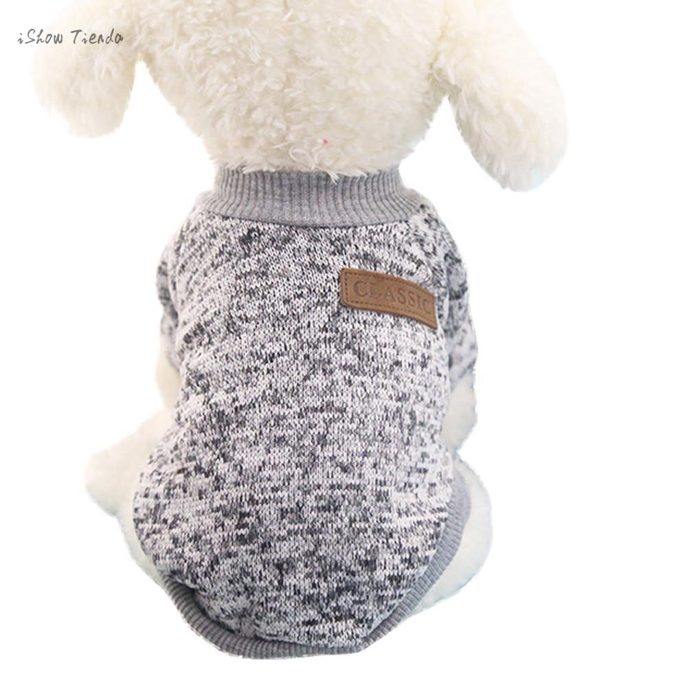 ISHOWTIENDA High grade 8 Colors Pet Dog Puppy Classic Sweater Sueter ...