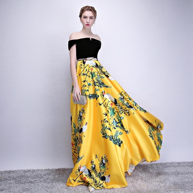 Doparty XS3 elegan satin formal majlis khas ibu gaun malam pengantin - Gaun acara khas - Foto 3