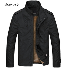 DIMUSI Winter Mens Bomber Jacket Male Casual Solid Slim Fit Business Jacket Men Fleece Thick Warm Windbreaker Jackets 4XL,TA249
