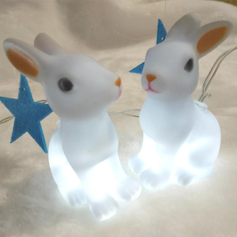 Easter day Decorative Lighting lovely rabbit shape led string light kerst <font><b>verlichting</b></font>