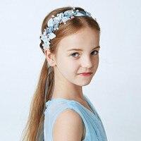 AA JUILLET Coiffe pour Enfants Faits À La Main Perle Bandeaux pour Filles De Fleur Européen et Américain De Mode De Cheveux De Mariage Accessoires