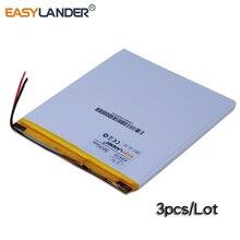 3pcs/Lot 3.7V 4594105 5600mAh Rechargeable Li-Polymer Li-ion Battery For PAD DIY E-Book  PSP DVD Power bank Tablet PC 4593105