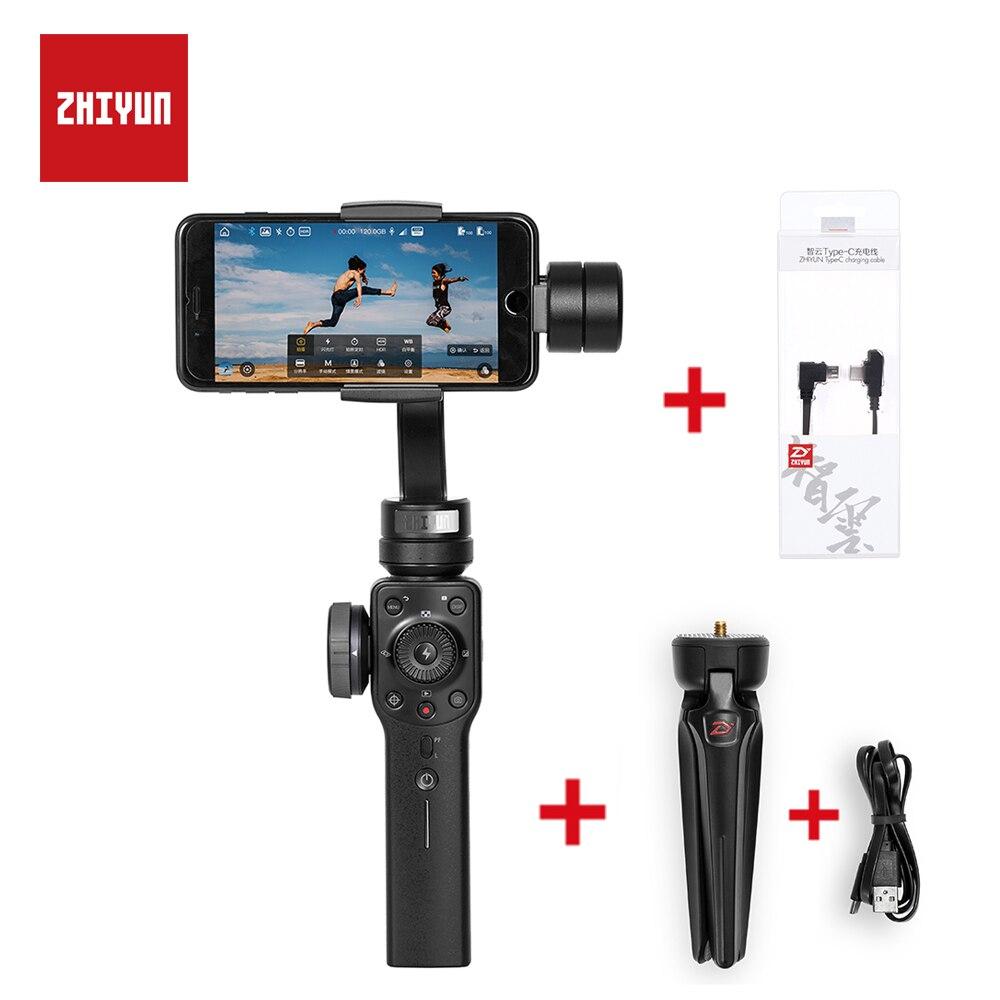 ZHIYUN Lisse Q Version Améliorée Lisse 4 3-Axes De Poche Cardan Stabilisateur pour iPhone Android Téléphone D'action Caméra Steadicam