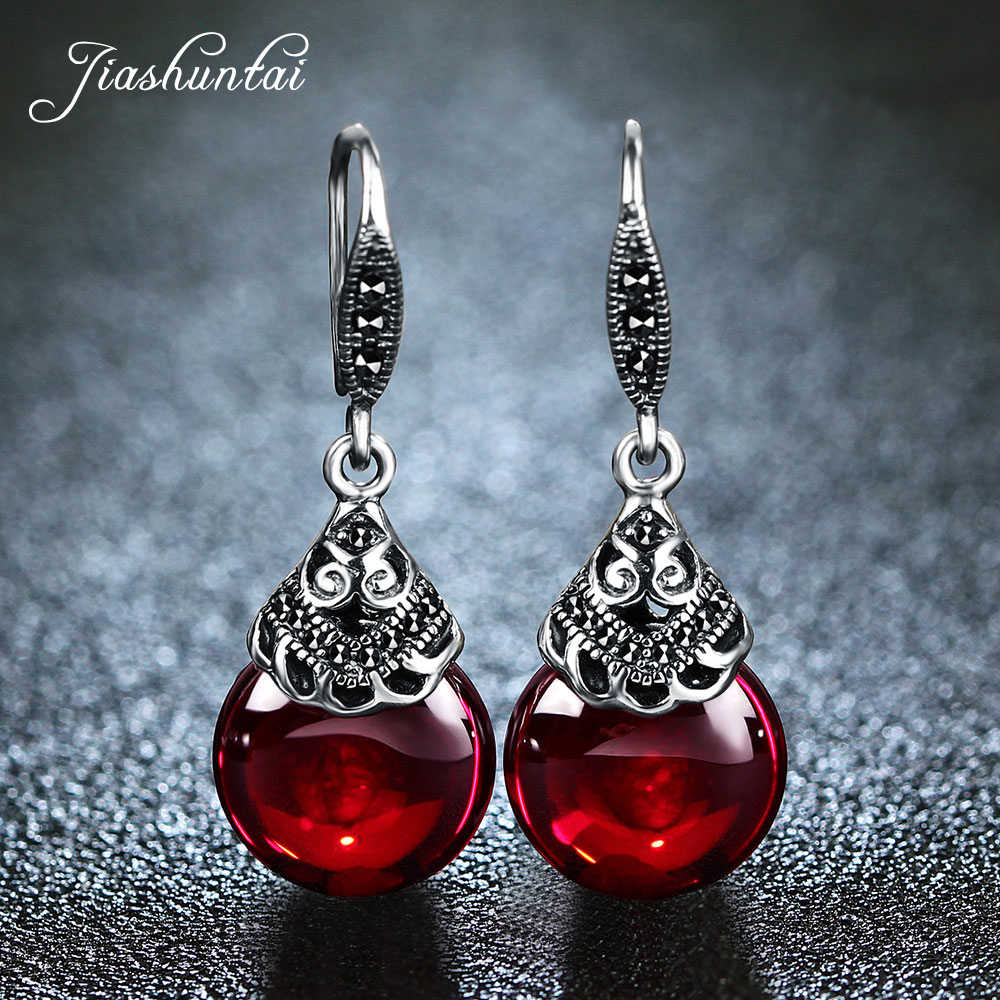 Garnet Earrings Garnet Silver Earring Garnet Jewelry Red Natural Gemstone Garnet 925 Dangle Earring Sterling Silver Garnet Drop Earring Gift