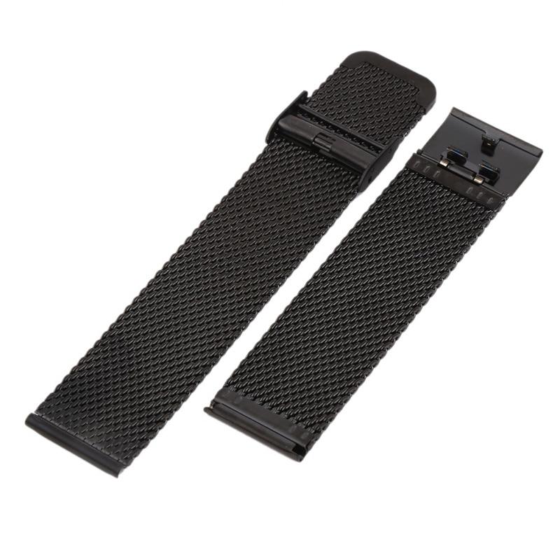 18mm 20mm 22mm 24mm Stainless Steel Watchband Universal Metal Watch Band Strap Bracelet Mesh Belt 14 16 17 18 19 20 21 22 23 24mm universal watch band strap stainless steel watchband bracelet ll 17